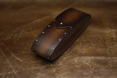 Handmade Leather Glasses Box Case Personalized Monogrammed Gift Custom Men Tooled Glasses Case Box