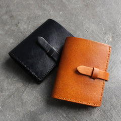Handmade leather vintage women short wallet clutch phone purse wallet