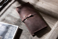 Handmade Leather Mens Clutch Wallet PERSONALIZED MONOGRAMMED GIFT CUSTOM COOL Leather Wallet Long Phone Wallets for Men