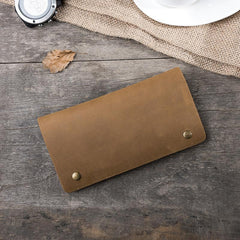 Handmade Leather Mens Clutch Wallet PERSONALIZED MONOGRAMMED GIFT CUSTOM COOL Slim Leather Wallet Long Phone Wallets for Men