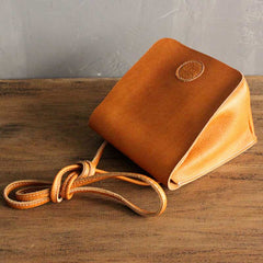 Handmade leather vintage women phone bag shoulder bag crossbody bag