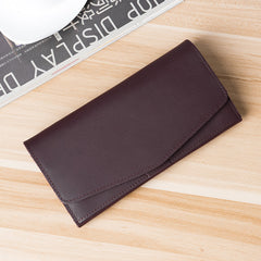 Handmade leather vintage women PERSONALIZED MONOGRAMMED GIFT CUSTOM envelope long wallet clutch phone purse wallet