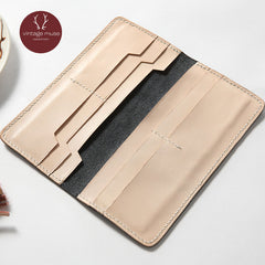 Genuine leather vintage women long Cute wallet clutch purse wallet