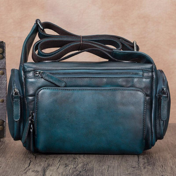 Vintage Satchel Bag Blue Side Shoulder Bag Camera Bags Purses
