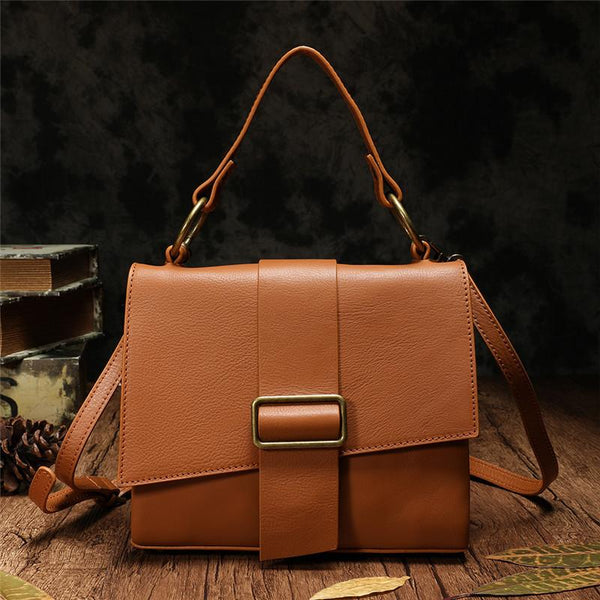 Brown Leather Satchel Bags Shoulder Purses