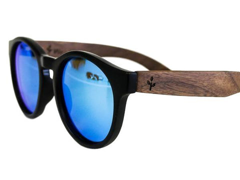 Wearwood - Blue Walnut Rounds Sunglasses