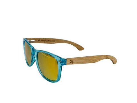 Wearwood - Ocean Blue Bamboo Sunglasses