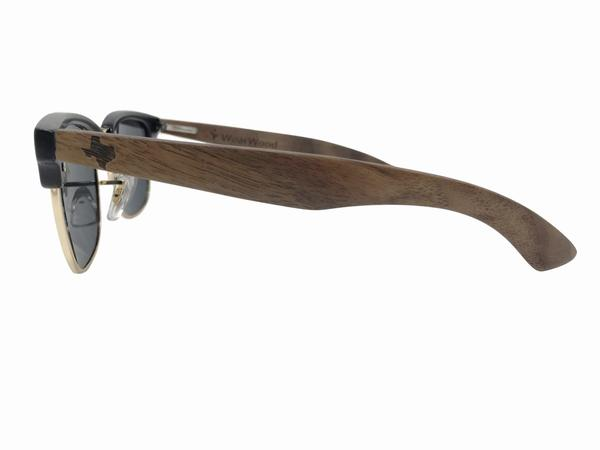 Wearwood - State of Texas Classic Walnut Clubmaster Sunglasses