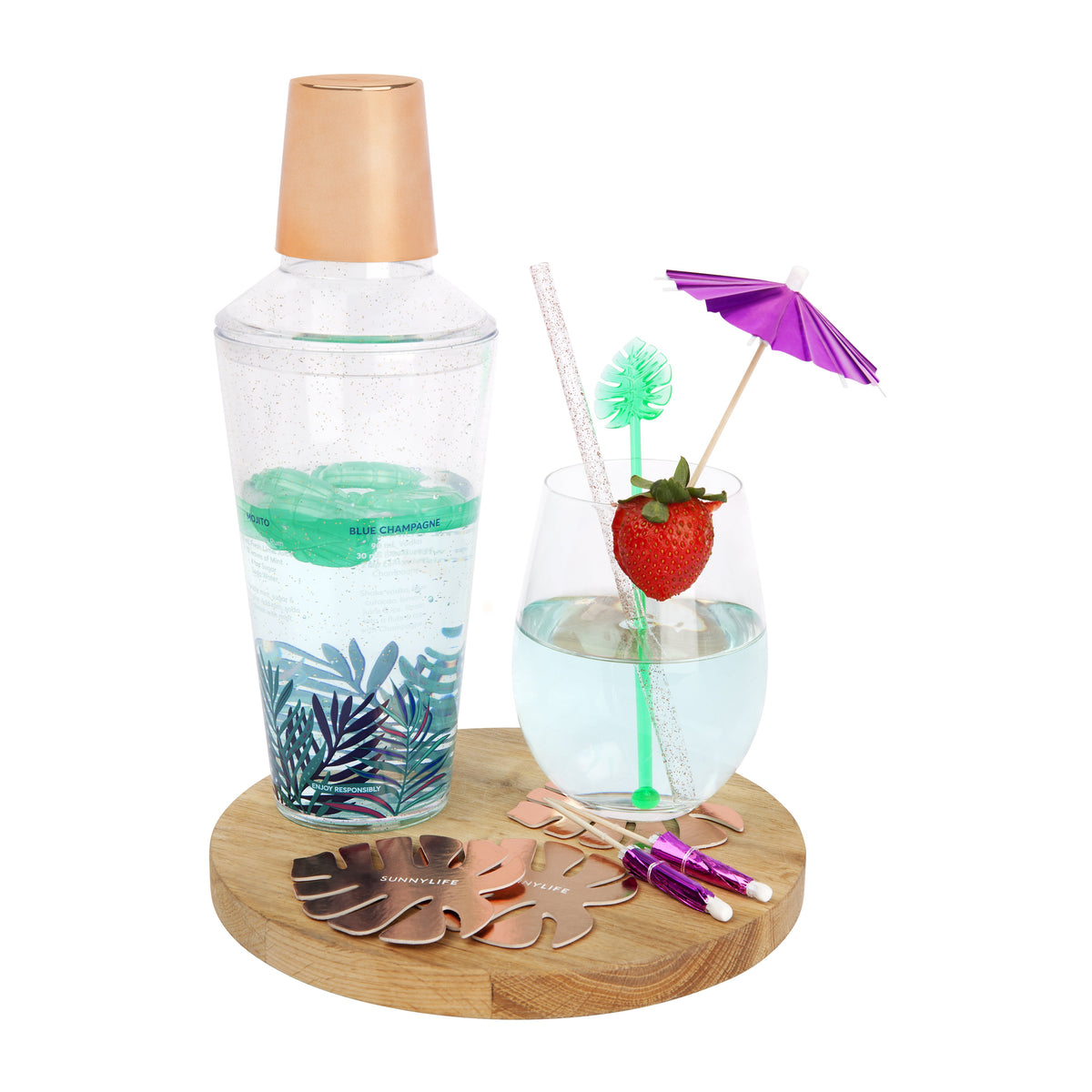 Sunnylife | Luxe Cocktail Kit | Electric Bloom