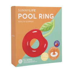 Sunnylife | Luxe Pool Ring | Cherry