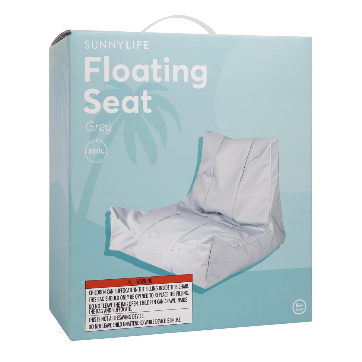 Sit-On Floating Bean Bag | Grey