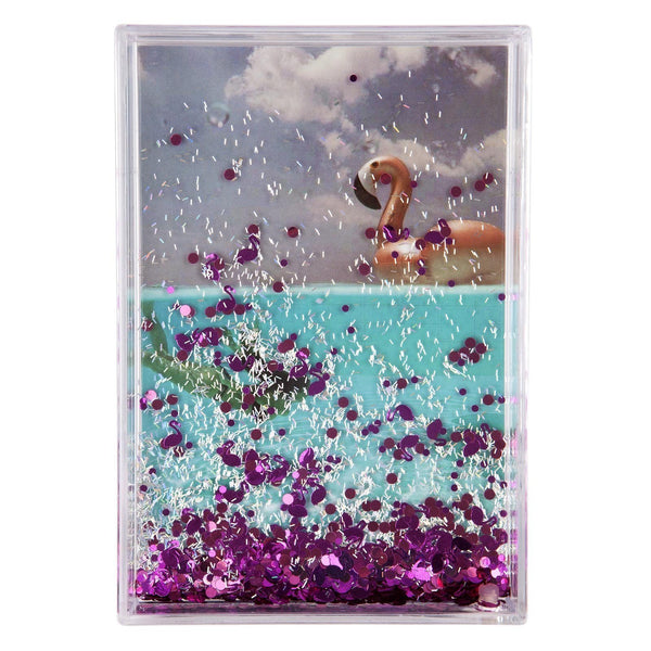 Sunnylife | Glitter Picture Frame Rectangle | Flamingo