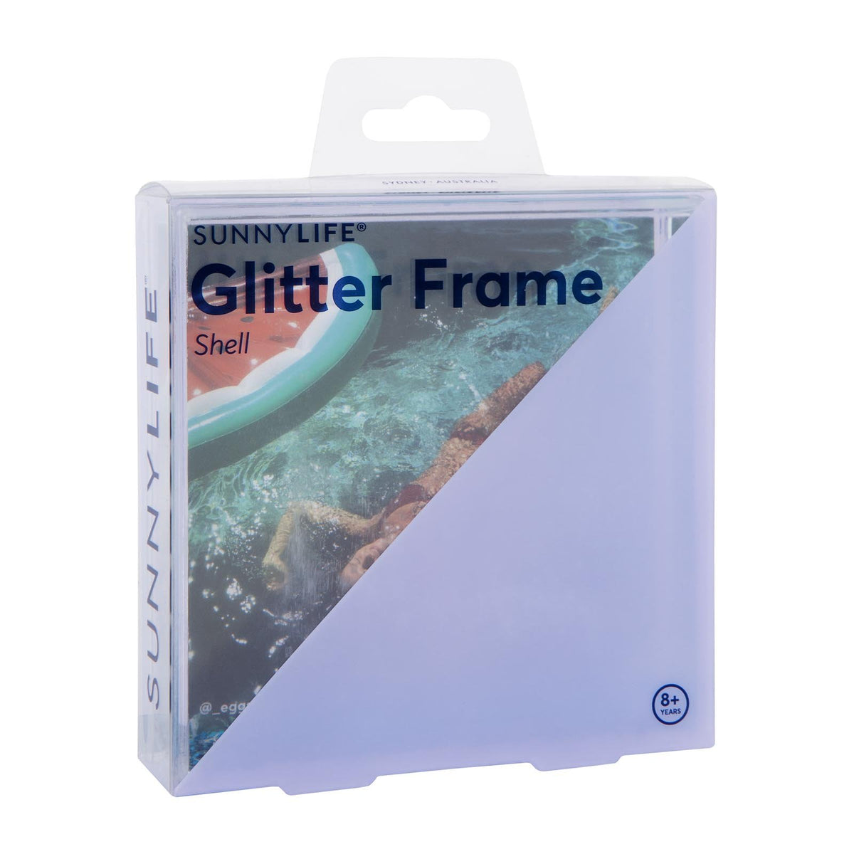Glitter Picture Frame Square | Shell