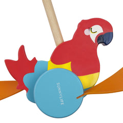 Push Along Toy | Macaw