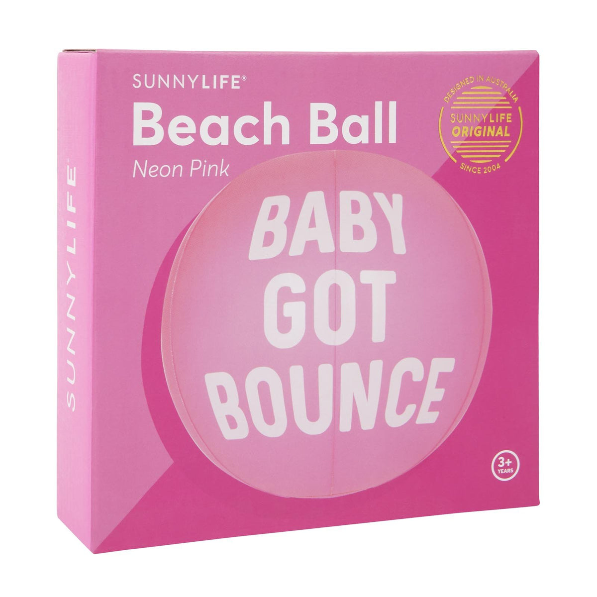 Inflatable Beach Ball | Neon Pink