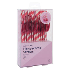 Honeycomb Straws | Flamingo