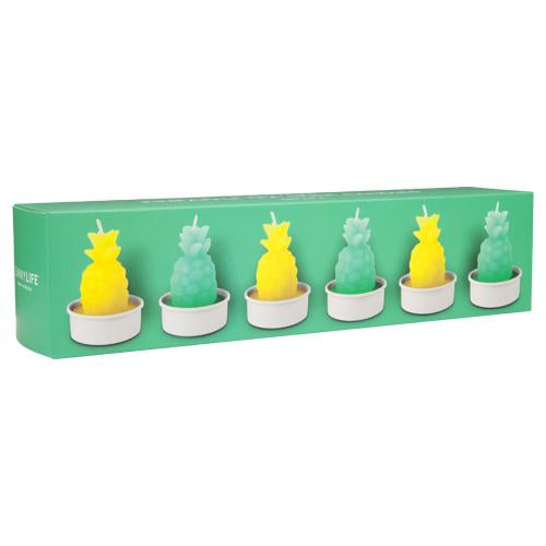 Pineapple Candles 6Set | Yellow and Green