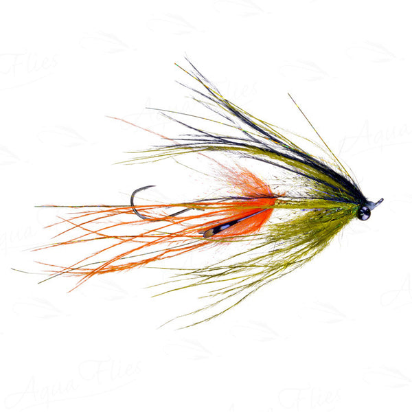 Jerry French Intruder olive/orange fly