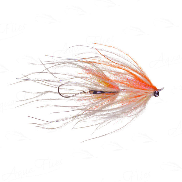 steelhead fly Jerry French Intruder orange/white