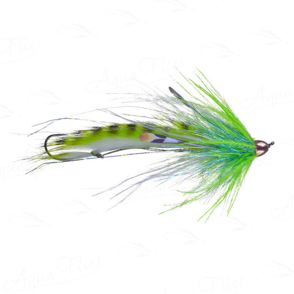Jerry French Dirty Hoh fly chartreuse/white