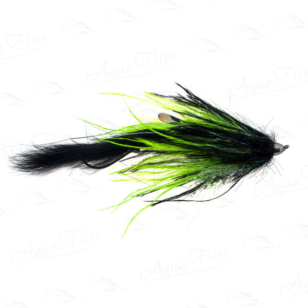 Jerry French Dirty Hoh Black/Chartreuse fly