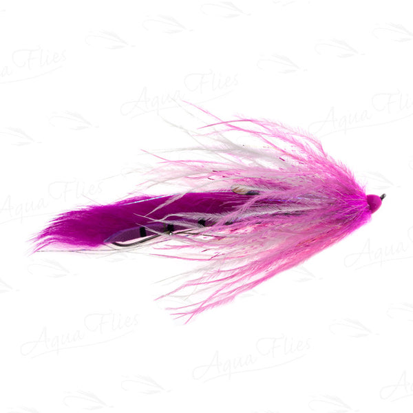 Jerry French Chinook flies Dirty Hoh Pink
