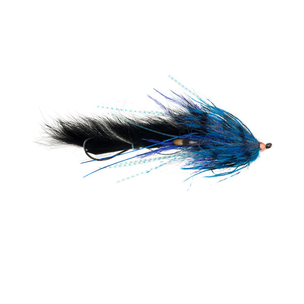 Mini Dirty Hoh black blue steelhead fly