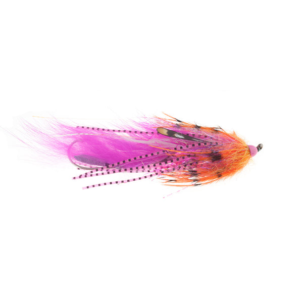 Mini Dirty Hoh orange pink fishing fly