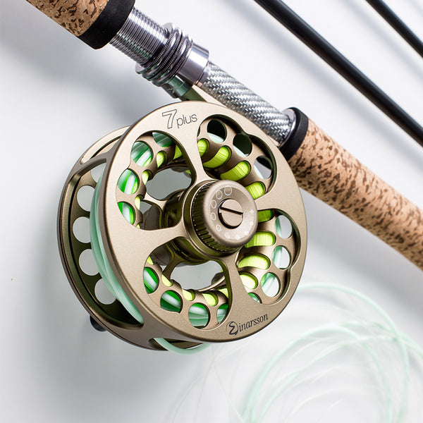 bronze fly reel Einarsson Plus