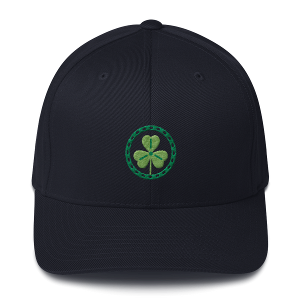 Clover Embroidered Flexfit Baseball Hat - Premium Poker Player Hoodies, Jackets, & T-Shirts | GrindPoker