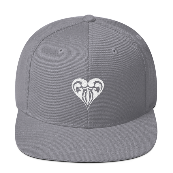Hearts Embroidered Snapback Hat - Premium Poker Player Hoodies, Jackets, & T-Shirts | GrindPoker