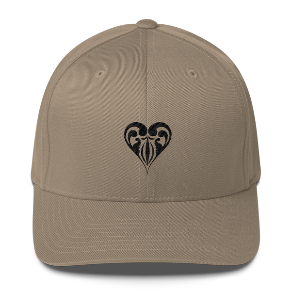 Hearts Embroidered Flexfit Hat - Premium Poker Player Hoodies, Jackets, & T-Shirts | GrindPoker