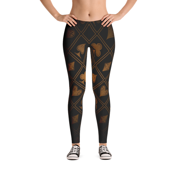 Leggings - Gold Suits - Premium Poker Player Hoodies, Jackets, & T-Shirts | GrindPoker