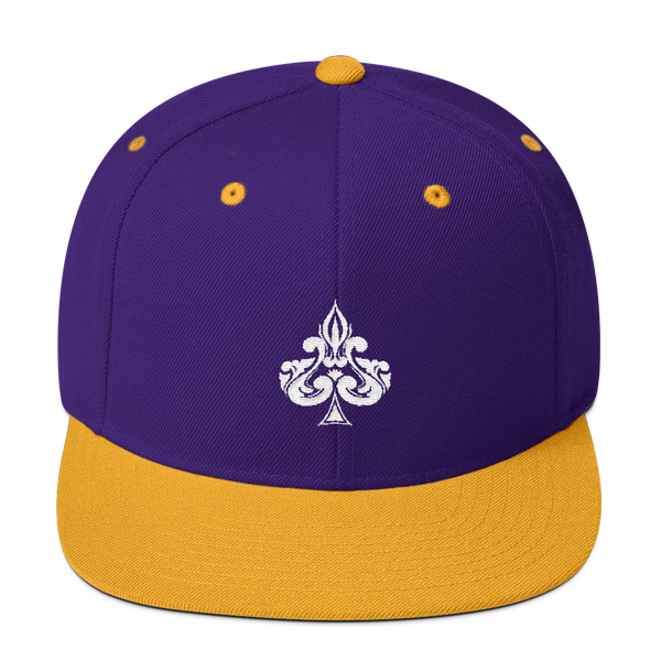 Spades Embroidered Snapback Hat - Premium Poker Player Hoodies, Jackets, & T-Shirts | GrindPoker