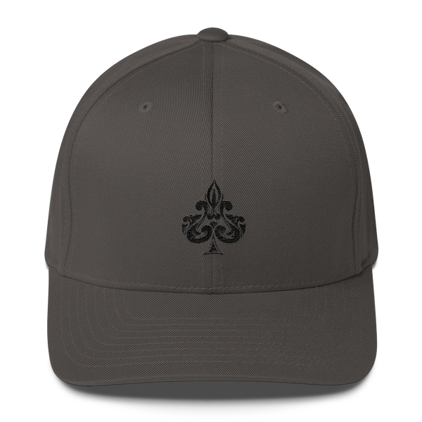 Spades Embroidered Flexfit Hat - Premium Poker Player Hoodies, Jackets, & T-Shirts | GrindPoker