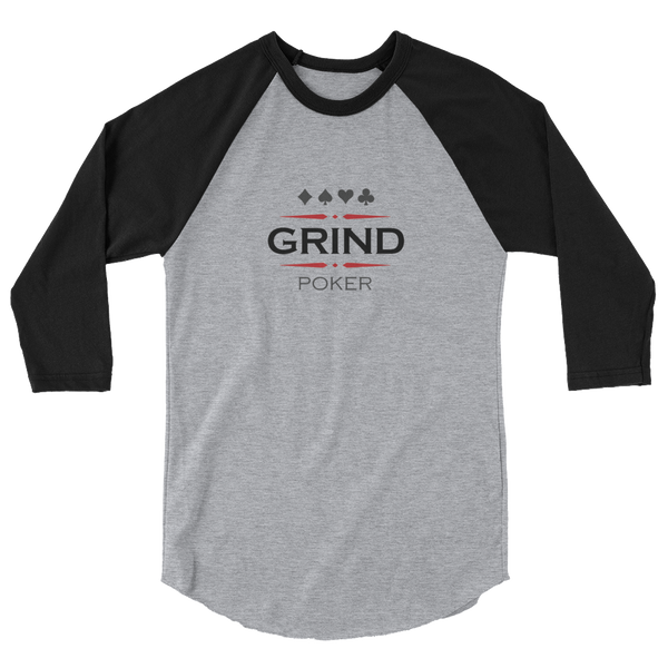 Logo Raglan T-Shirt (Men's / Unisex) - Premium Poker Player Hoodies, Jackets, & T-Shirts | GrindPoker