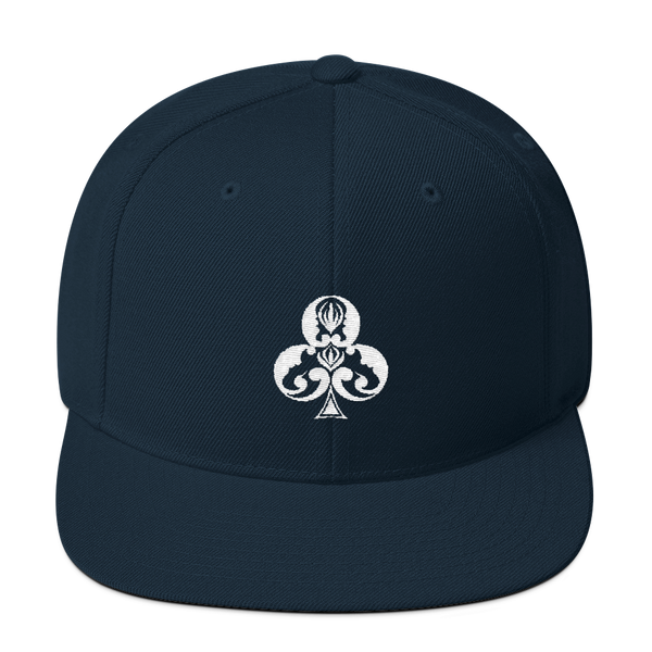Clubs Embroidered Snapback Hat - Premium Poker Player Hoodies, Jackets, & T-Shirts | GrindPoker