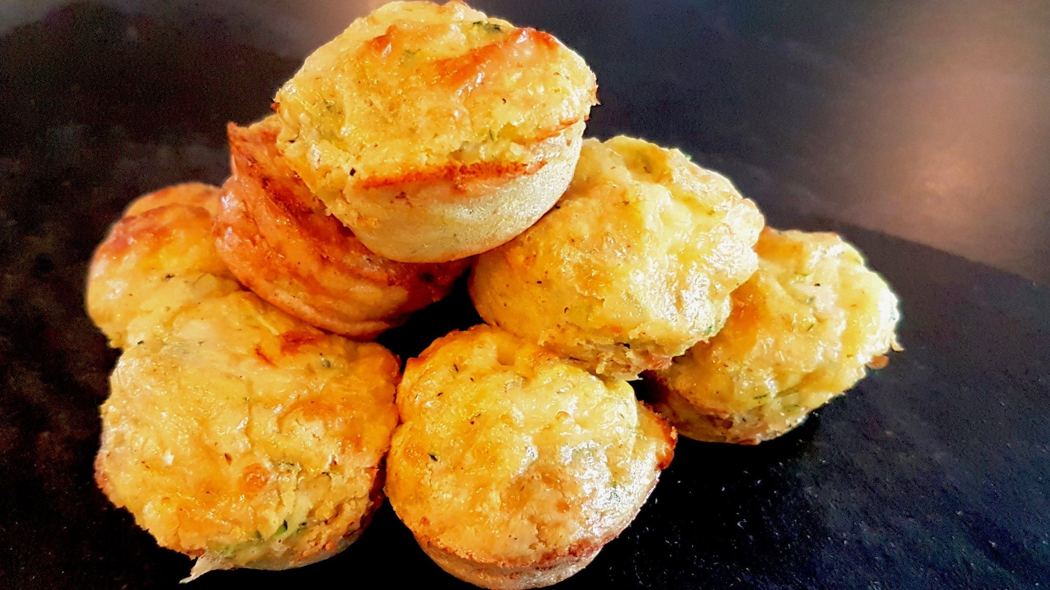Zucchini & K4 Cultured Garlic Muffins