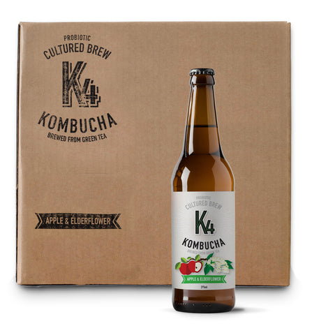 K4 Kombucha Small Case (12 x 275ml bottles)