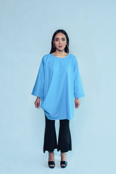 Maimuna Top in Blue