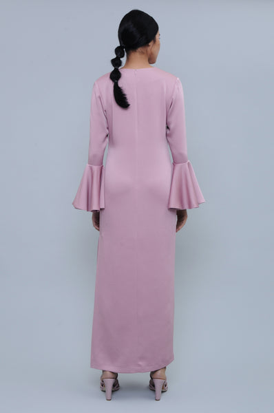 Marigold Bell Sleeve Dress in Pink