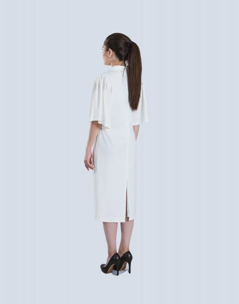 Dress Puff Sleeves In White