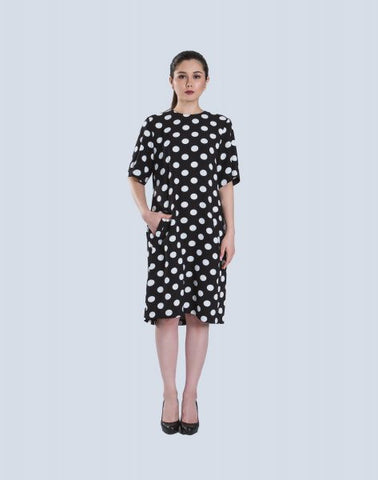 Loose Dress In Polka
