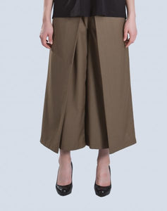 Melur Inverted Pants in Brown