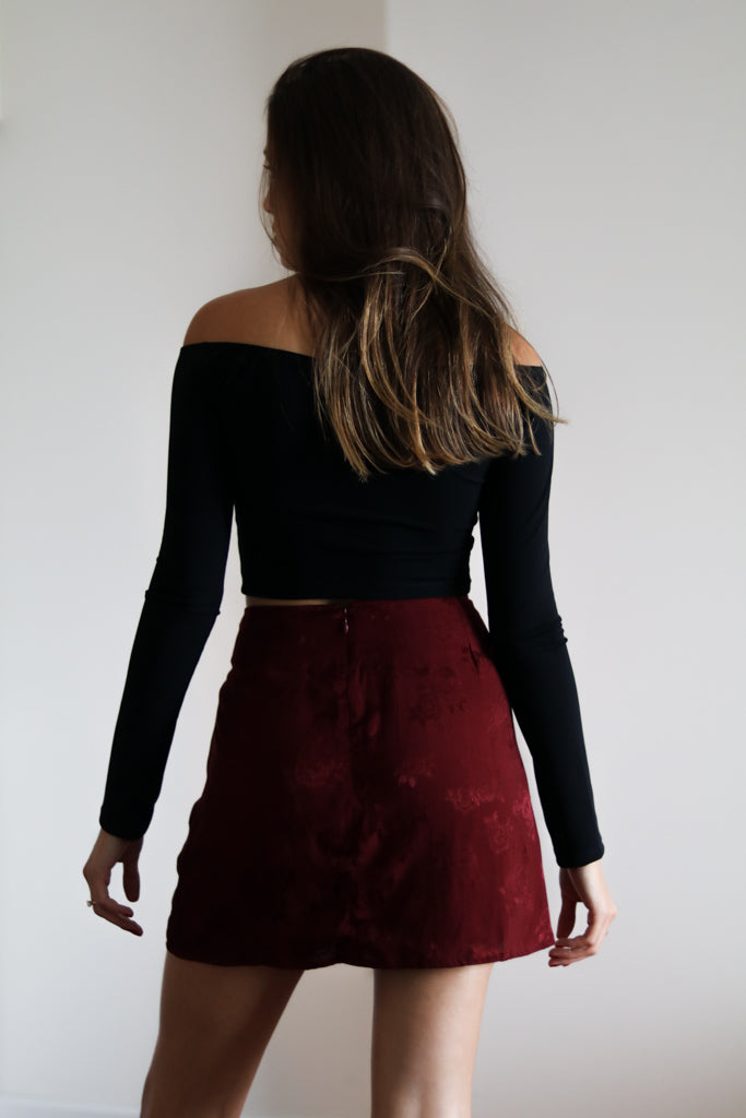 Pelment  Rose-Mulberry Skirt