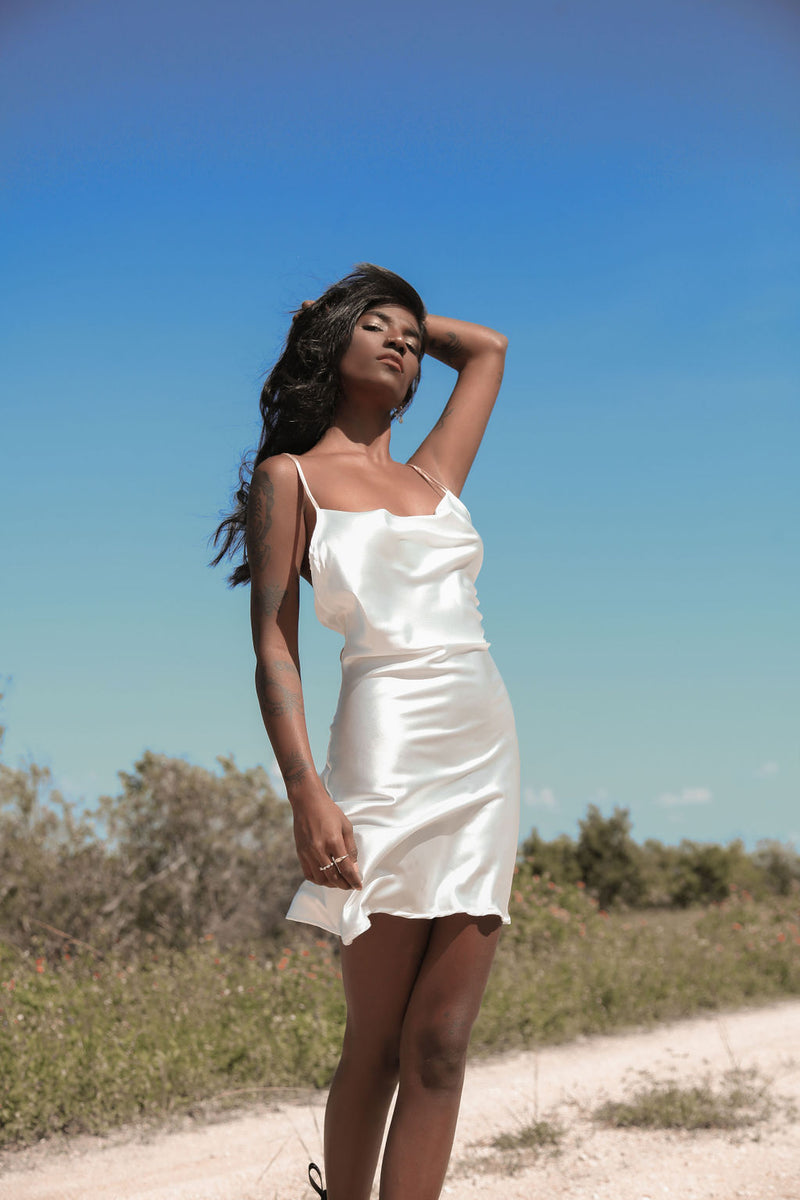 Gara Short White Dress