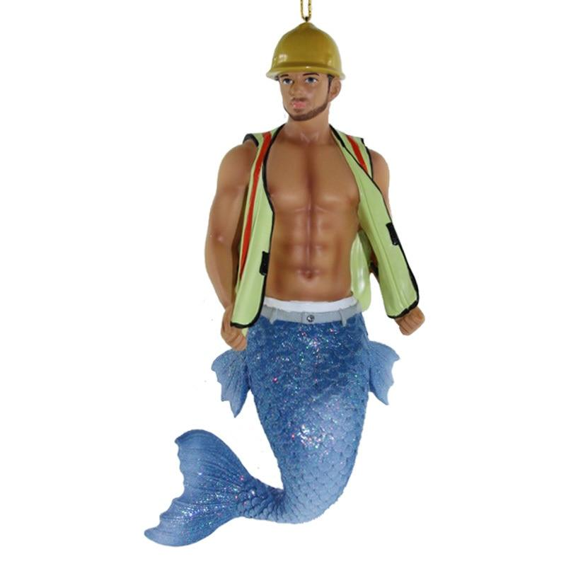 December Diamonds Hard Hat Merman Ornament