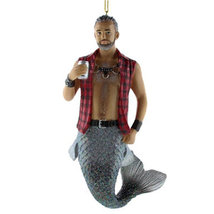 December Diamonds Sir Leather Merman Ornament