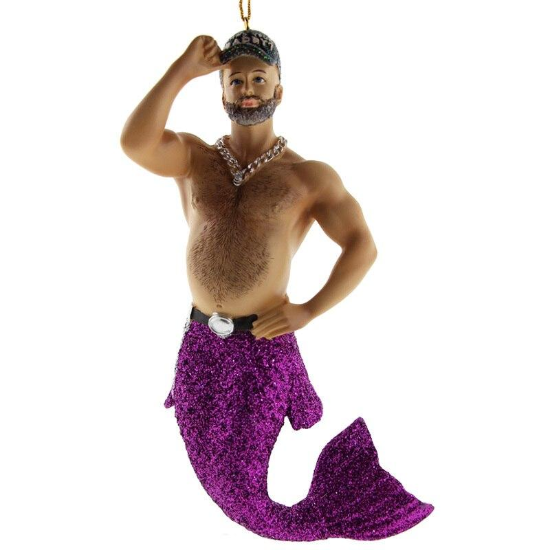 December Diamonds Who's Your Daddy Merman Ornament