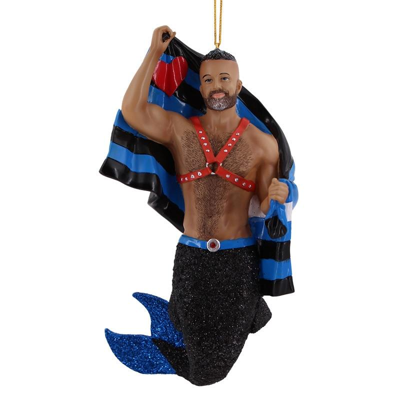 December Diamonds Leather Pride Merman Ornament